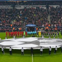 champions league, pitch, beginning of the match