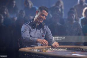 CRISTIANO Ronaldo playing poker