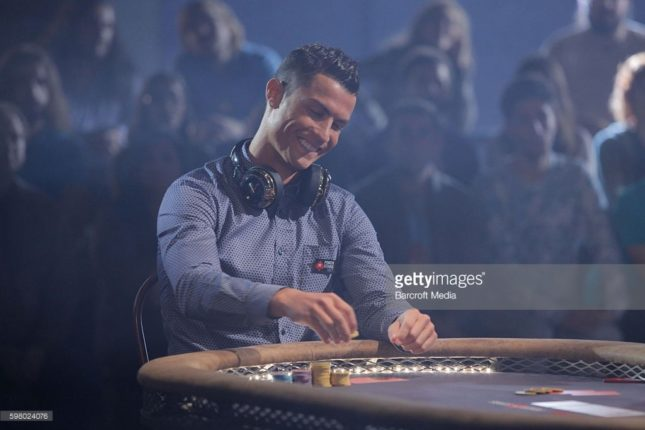 CRISTIANO Ronaldo playing poker
