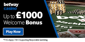 betway.co.uk/online-casino/ - GBP 1000 Welcome Bonus